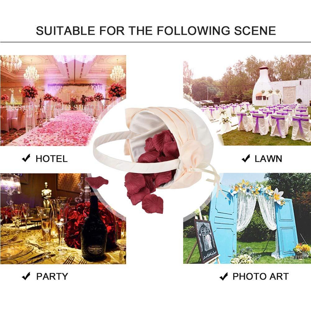 Blumenm/ädchen K/örbe romantische Hochzeit Blume Bowknot Band Korb f/ür Hochzeitsfeier Bankett Dekoration