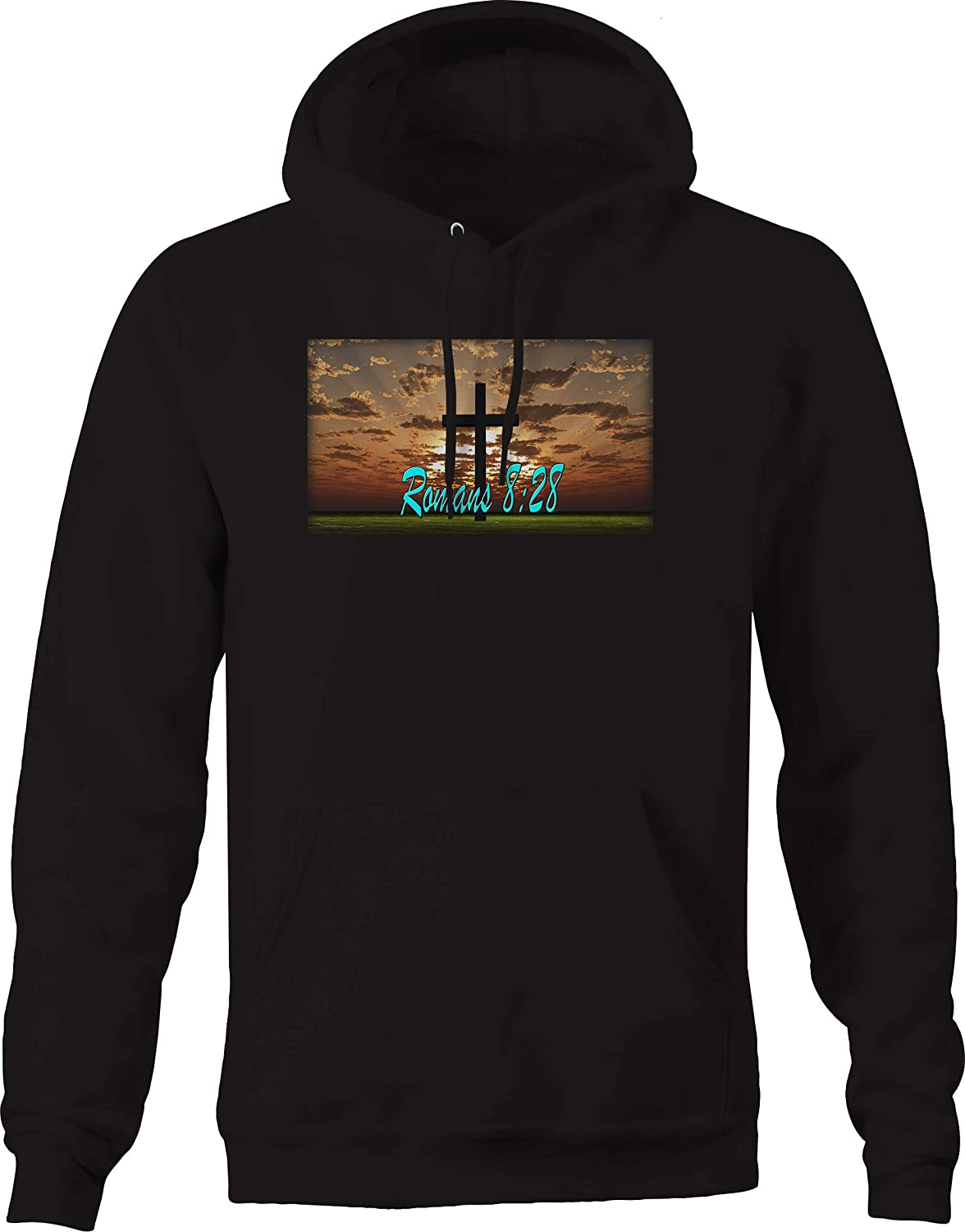 Romans 8:28 Cross Jesus Holy Kingdom Bible Sweatshirt