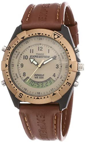 Timex Expedition Analog Digital Beige Dial  Small dial  Men's Watch   MF13 Men's Wrist Watches