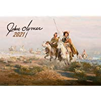 """Image for Wall Calendar 2021 [12 pages 8""""x11""""] Indians Life Native Americans by John Clymer Vintage Western Poster"""