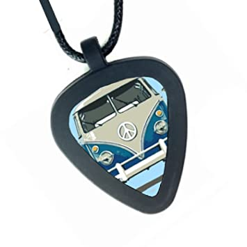VW Bus Van Vanagon Volkswagen Peace Sign Pickbandz Mens or Womens Real  Guitar Pick Necklace  Amazon.co.uk  Musical Instruments cc0ab6334a