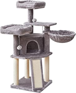 IBUYKE Cat Tree Tower Condo Cat Play Furniture 46.5