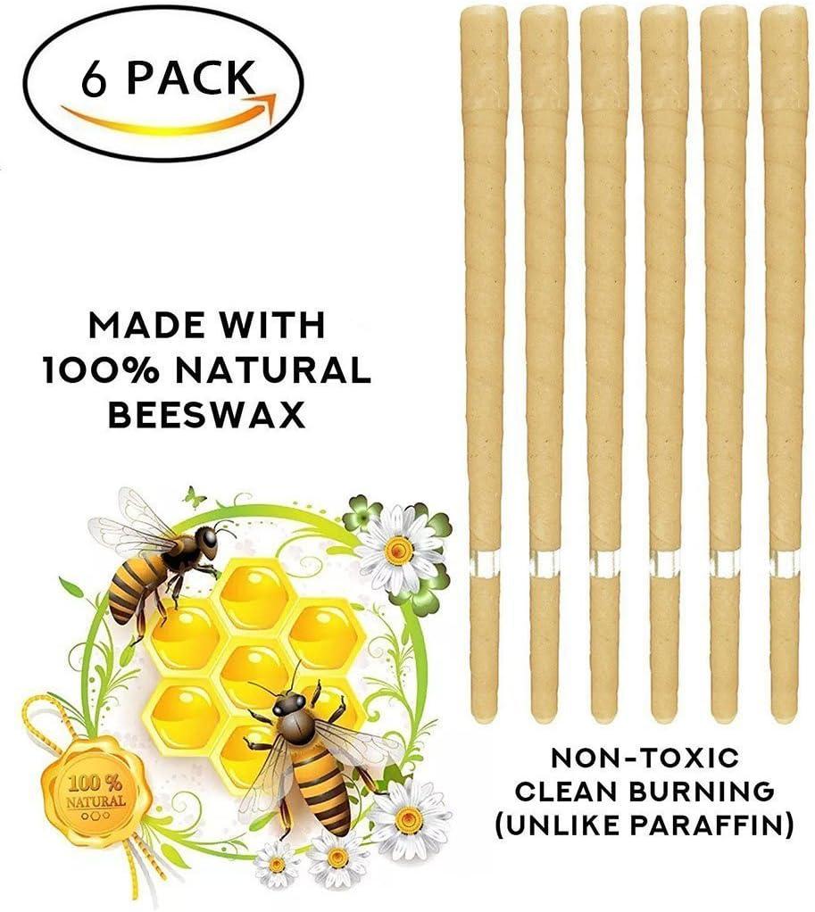 RUHO - Juego de 6 velas de cera de abeja, aroma 100% natural, 6 paquetes + 6 discos: Amazon.es: Juguetes y juegos