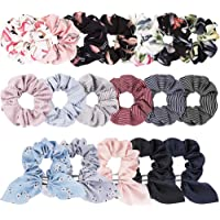 Scrunchies for Hair Women's Hair Scrunchies, Canitor 18 Pack Scrunchy Hair Ropes Chiffon Ponytail Holder