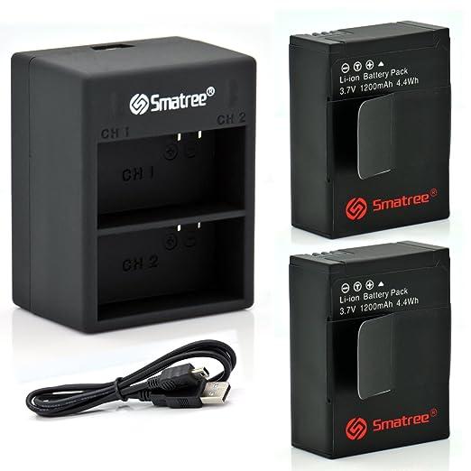 82 opinioni per Smatree® Alimentazione Batteria (2-Pack) e Dual Charger w/cavo usb per GoPro®