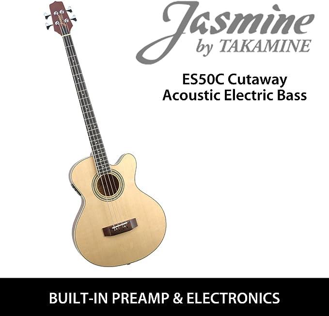Jazmín por Takamine es50 C guitarra acústica bajo eléctrico de 4 ...