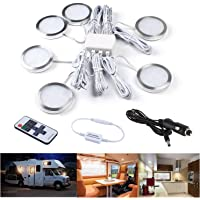 UCIN 12V RV Under Cabinet Lighting, Interior Car Lights, 6Pack Dimmable Warm White 3W LED Car Lights Interior with…