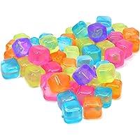 COM-FOUR Cubitos de hielo reutilizables en diferentes diseños, cubitos de hielo de fiesta en colores brillantes