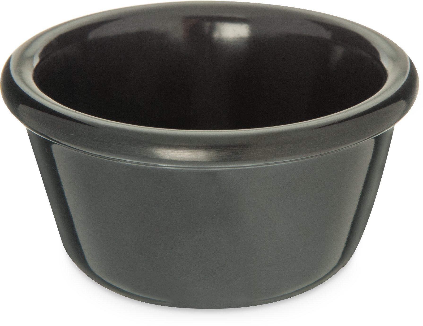 Carlisle S28503 Melamine Smooth Ramekin, 4 oz. Capacity, Black (Case of 48)