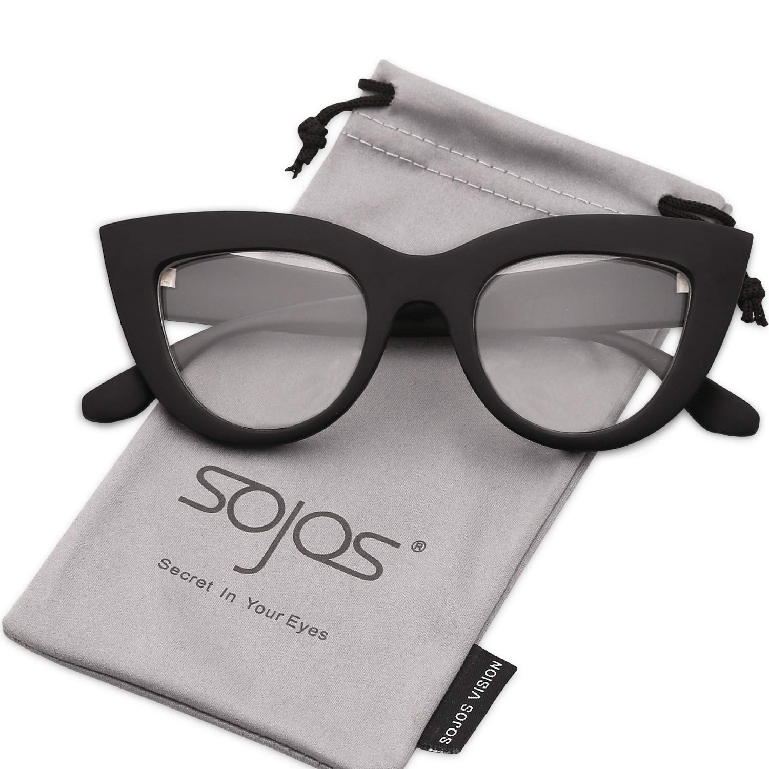 7e133b5b69 SOJOS Retro Vintage Cateye Sunglasses for Women Plastic Frame Mirrored Lens  SJ2939 product image