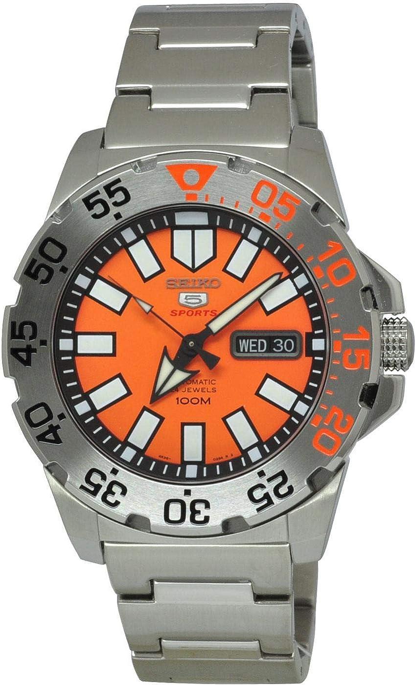 Seiko SRP483 - Reloj de automático para Hombre, con Correa de Acero Inoxidable, Color Metalizado