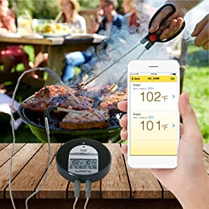 Lumsing Wireless BBQ Grill Smoker Oven Thermometer
