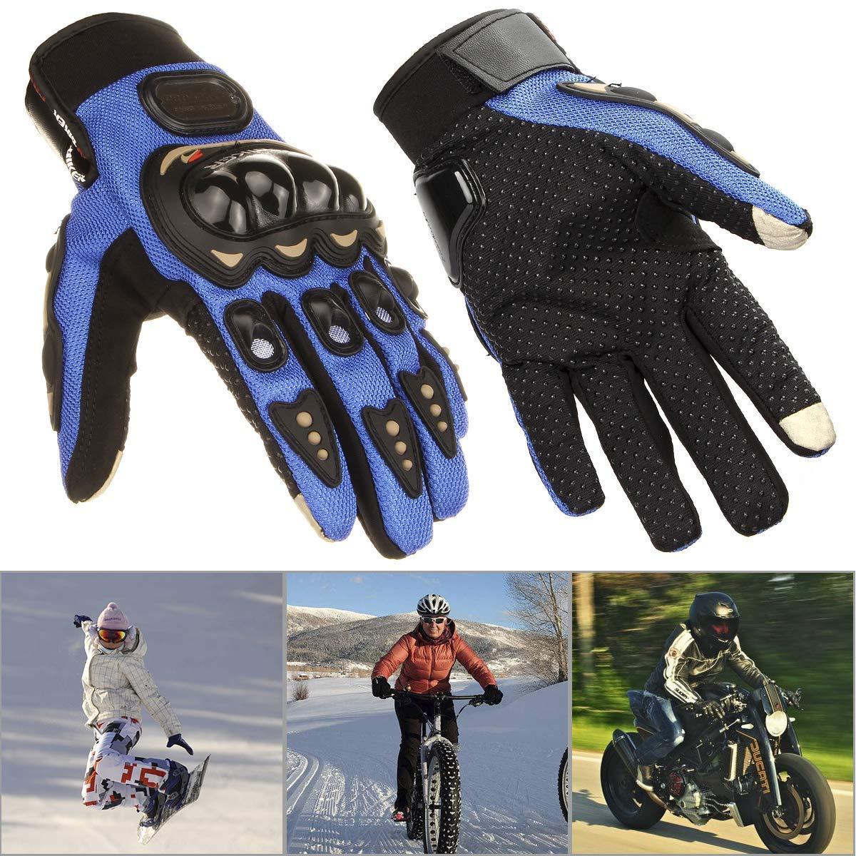 Pro-biker Guanti Moto motocross enduro con protezione M, BLU