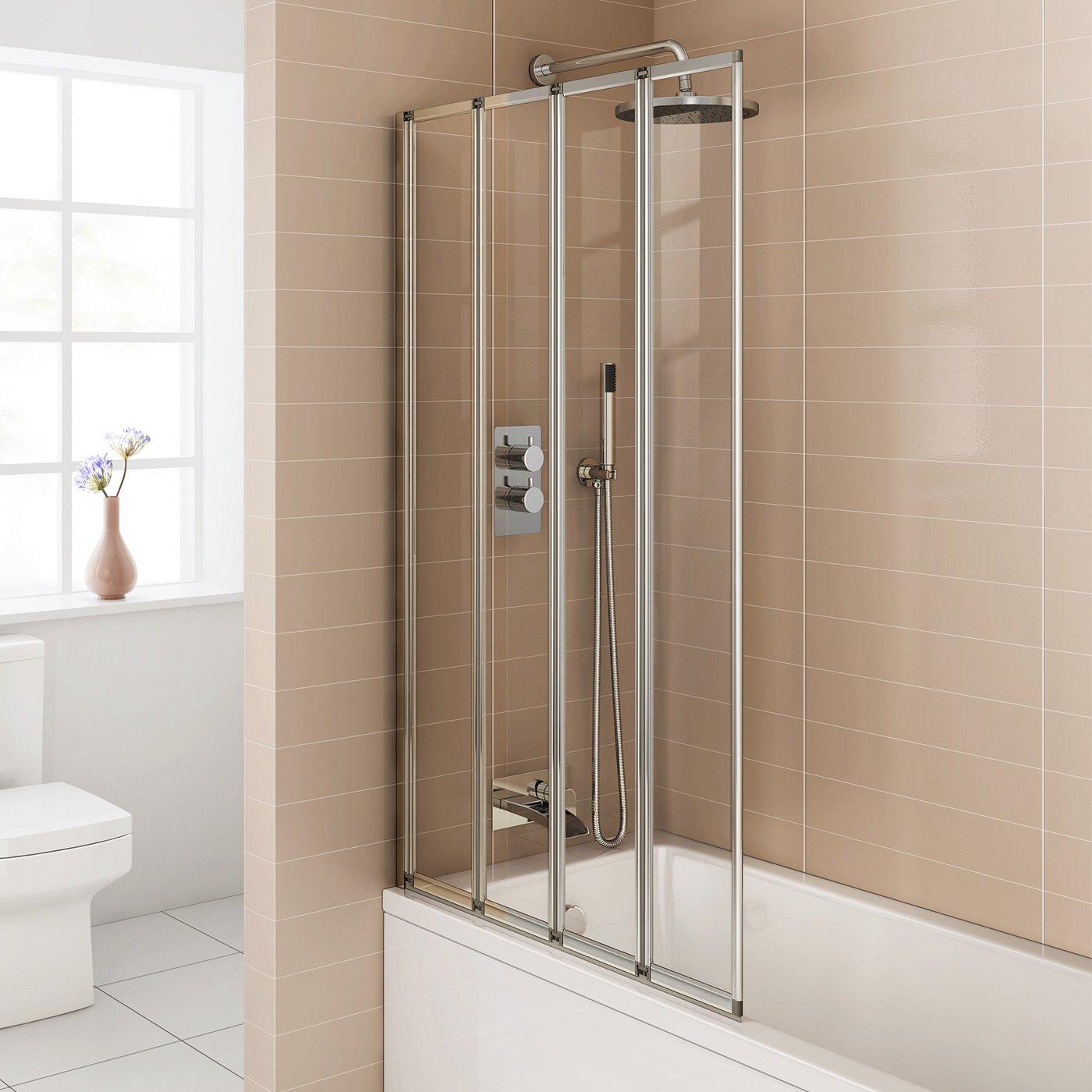800mm modern pivot folding bath shower glass screen reversible 800mm modern pivot folding bath shower glass screen reversible door panel ibathuk amazon co uk kitchen home