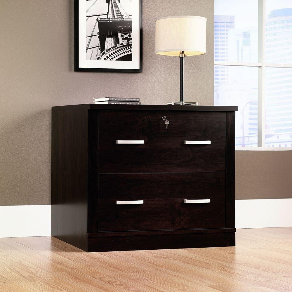 Amazon.com : Office Port File Cabinet in Dark Alder Finish ...