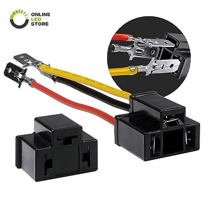 ONLINE LED STORE H4 (9003/HB2) Headlight Socket Converter Kit [for on