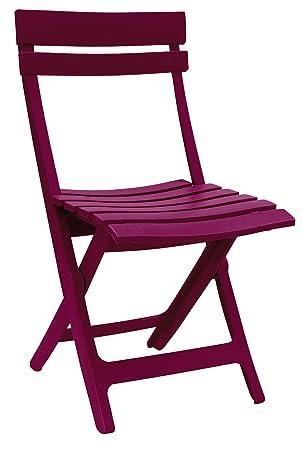 GROSFILLEX Miami Chaise Pliante Framboise 50 X 42 80 Cm