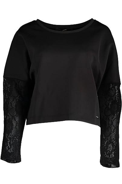GUESS Jeans W63Q15K4R40 Sudadera sin Cremallera Mujer Negro A996 M: Amazon.es: Ropa y accesorios