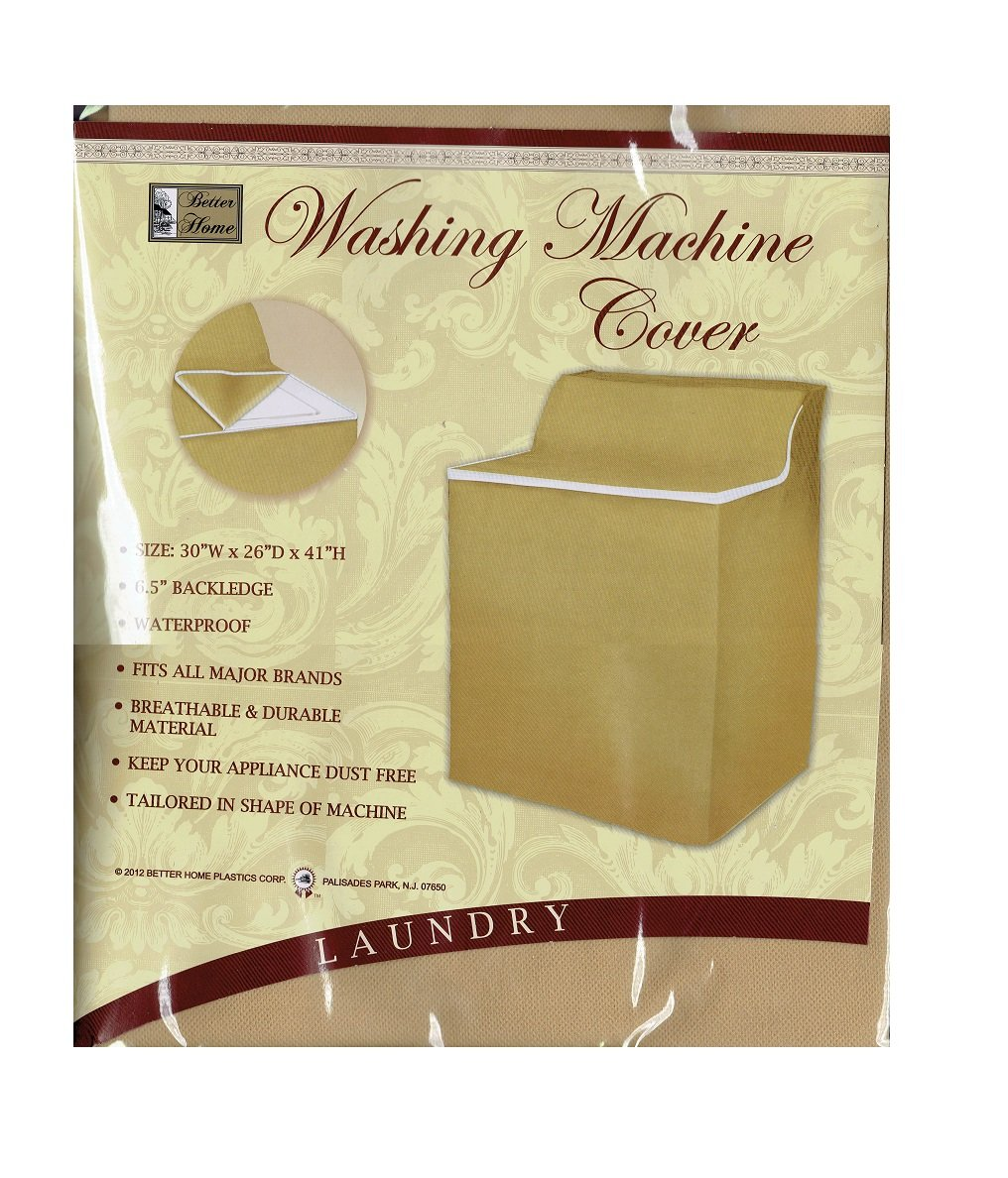 Better Home Xlarge Fabric Waterproof Washing Machine Cover with Zippered Top Material Appliance (Beige Tan)