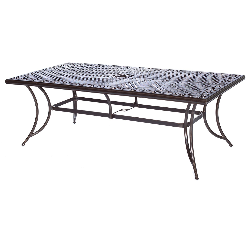 hanover patio furniture. Amazon.com: Hanover MANDN9PC Manor 9-Piece Rust-Free Aluminum Outdoor Patio Dining Set 8 Tan Sling-Back Chairs A Cast-Top Rectangular Table: Garden \u0026 Furniture I
