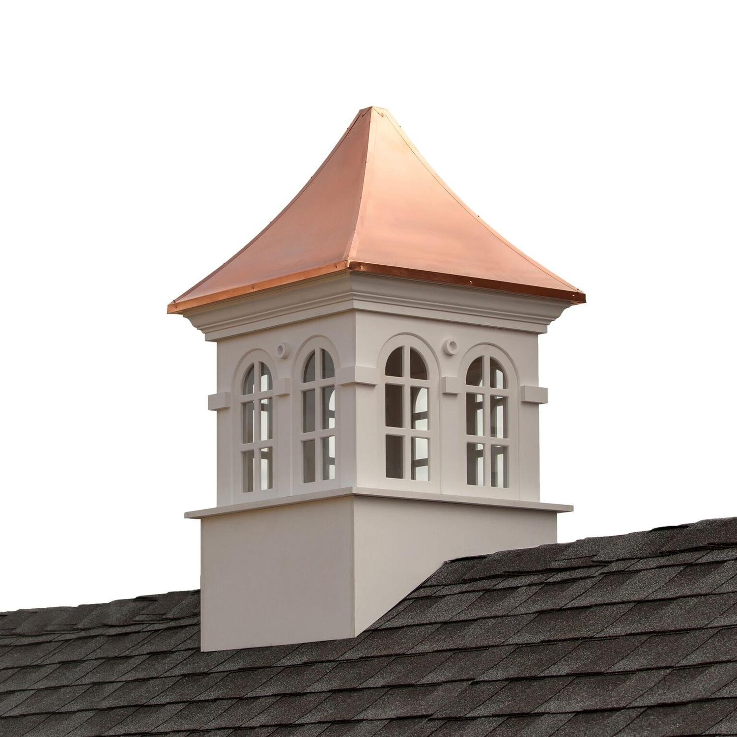 58'' Beautiful Handcrafted Smithsonian Stafford Vinyl Cupola with Copper Roof
