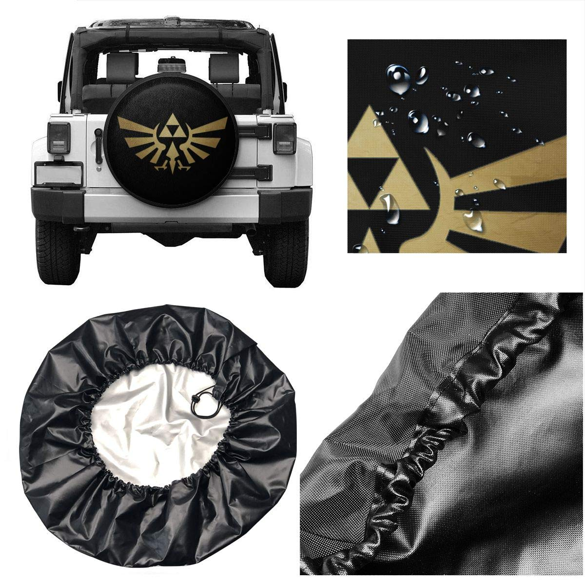 14,15,16,17 Inch RJ5nrusfwtba The Legend of Zelda Wheel Tire Cover Liberty Spare Tire Cover