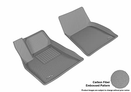 14496a02773 3D MAXpider Front Row Custom Fit All-Weather Floor Mat for Select Tesla  Model S Models - Kagu Rubber (Gray)