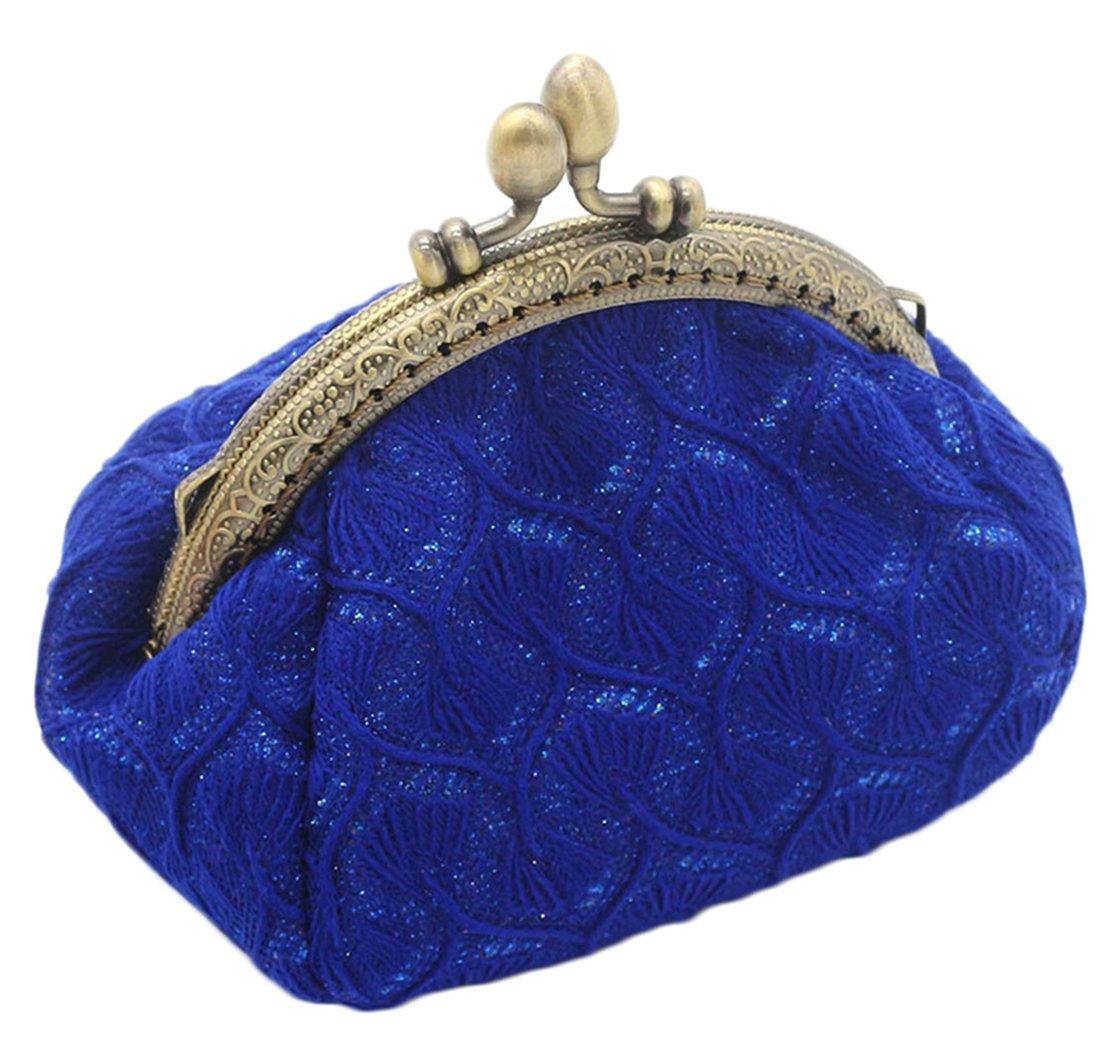iSuperb Minibörse Minigeldbörse Münzbeutel Geldbörse Mini Portemonnaie Geldsäckchen Coin Purse (Blau)
