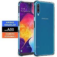 Samsung Galaxy A50 Kılıf Şeffaf Darbe Emici Kenar Kamera Korumalı (H6SEW45)
