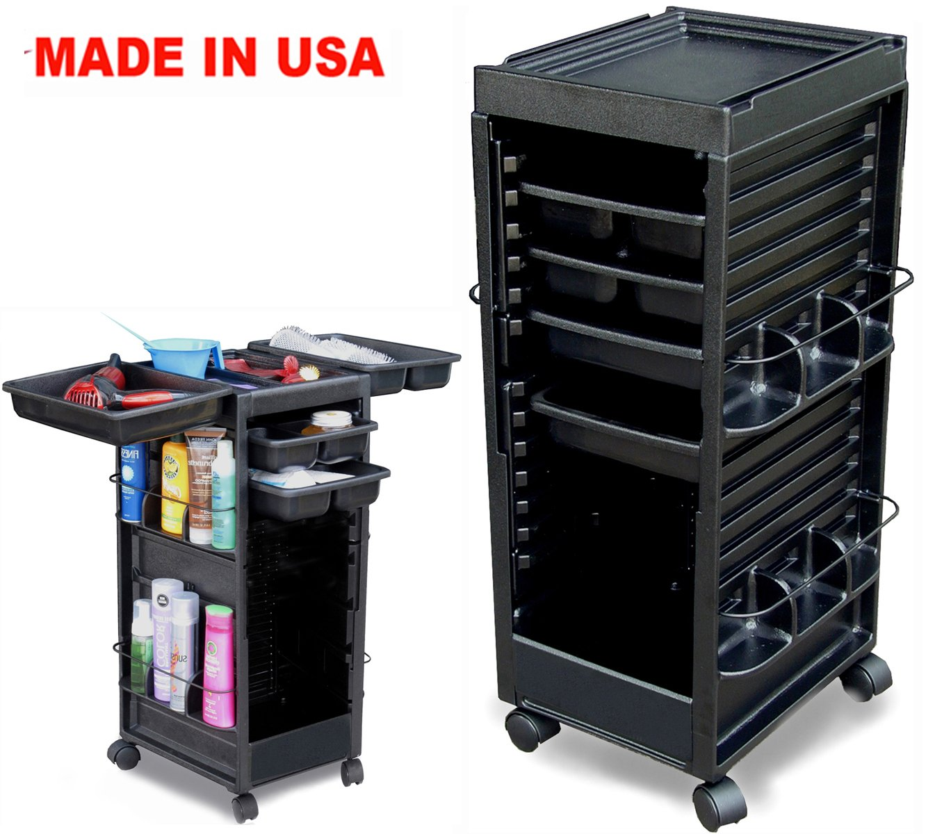 N20 PRIME SALON SPA TROLLEY ROLLING ROLL-ABOUT NON LOCKABLE MADE IN USA Dina Meri