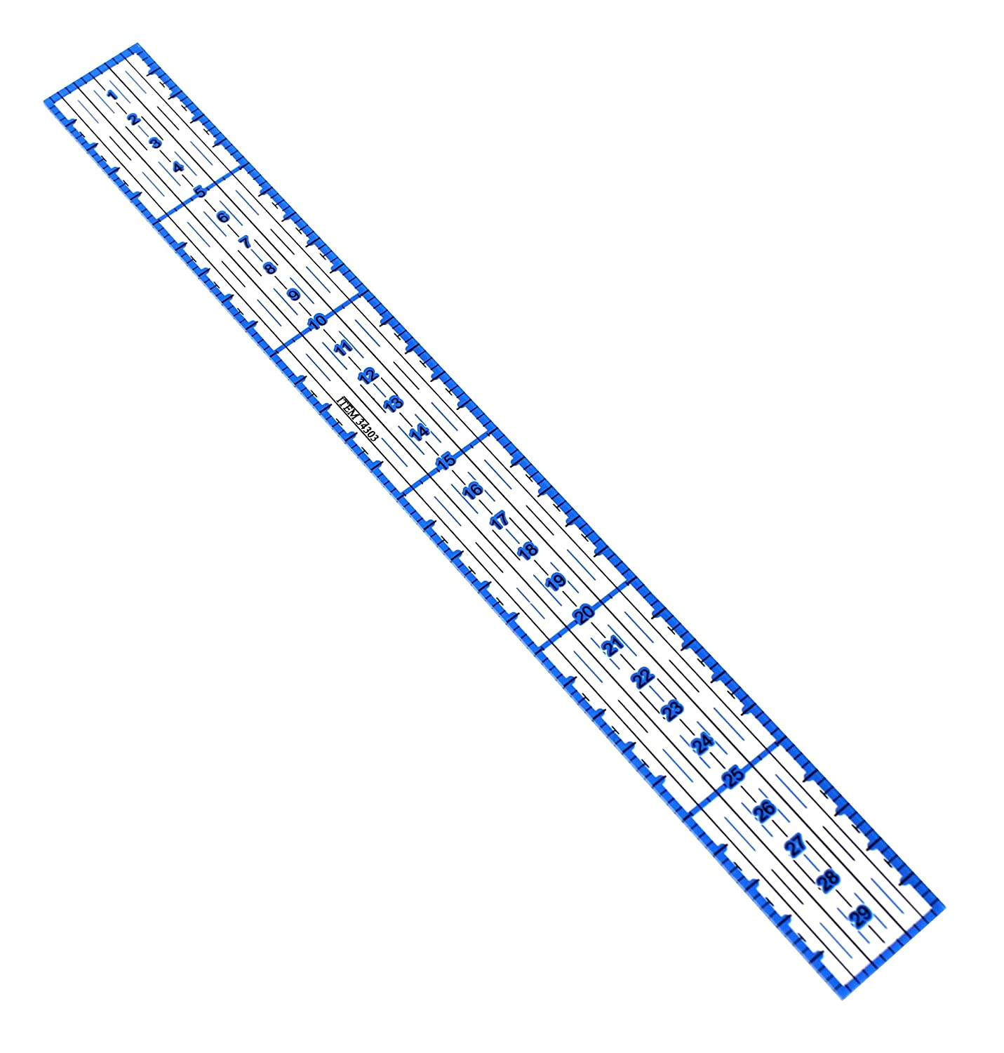 VViViD 30.5 Centimeter Clear Acrylic Precision Blue Quilting Ruler
