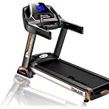 Powermax Fitness TDA-330 3 HP/6 HP Peak Motorized Treadmill for Home Use with 5.5 inch Blue LED Display, Touch Buttons…