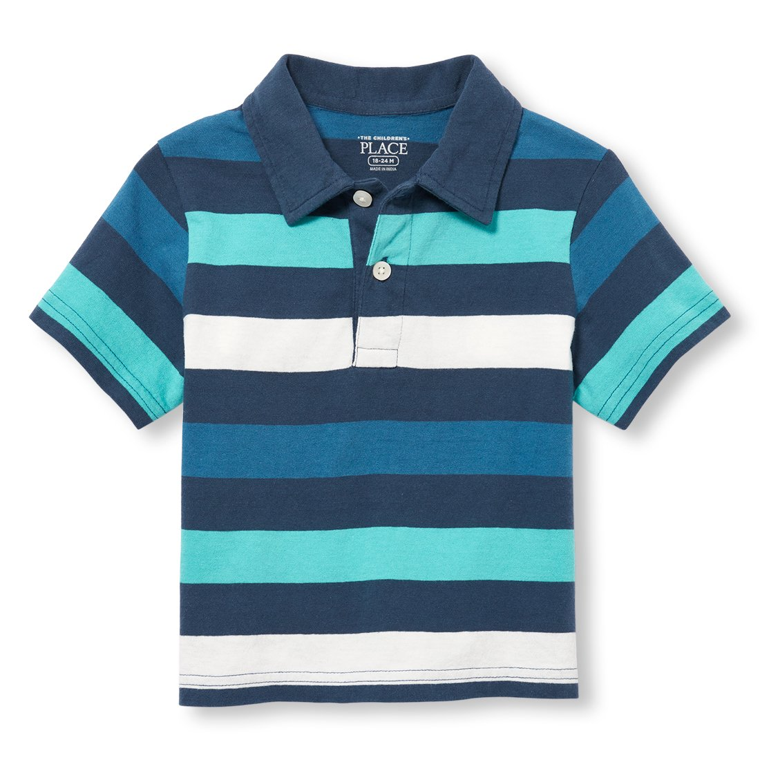 The Children's Place Baby Boys Short Sleeve Striped Polo The Children's Place 2109217