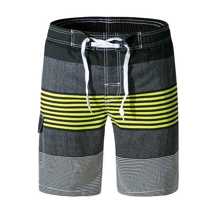 ab2b3c2c4d Wodun Men's Swim Trunks Board Shorts Swim Bathing Shorts for Surfing Beach  Sports Casual Green
