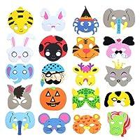 RETON Maschere per animali in schiuma per bambini, confezione da 40 pezzi