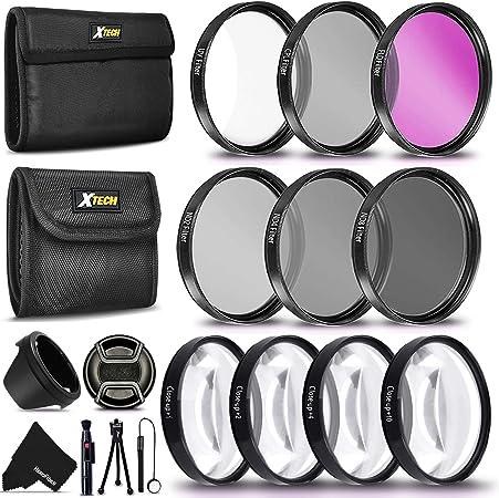 Neewer 58mm Kit de Lentes y Filtros: Lente Gran Angular Teleobjetivo y Set Filtros para Canon EOS Rebel T7i SL2 T6i T6s T6 T5i T5 T3i 80D 77D 70D 60D Macro, ND, UV, CPL, FLD
