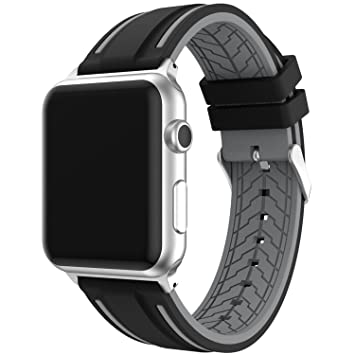 EL-move for Apple Watch Band, 38MM/42MM 40MM/44MM Reemplazo de Silicona Suave Deportiva para de Series 1 Series 2 Series 3 Series 4