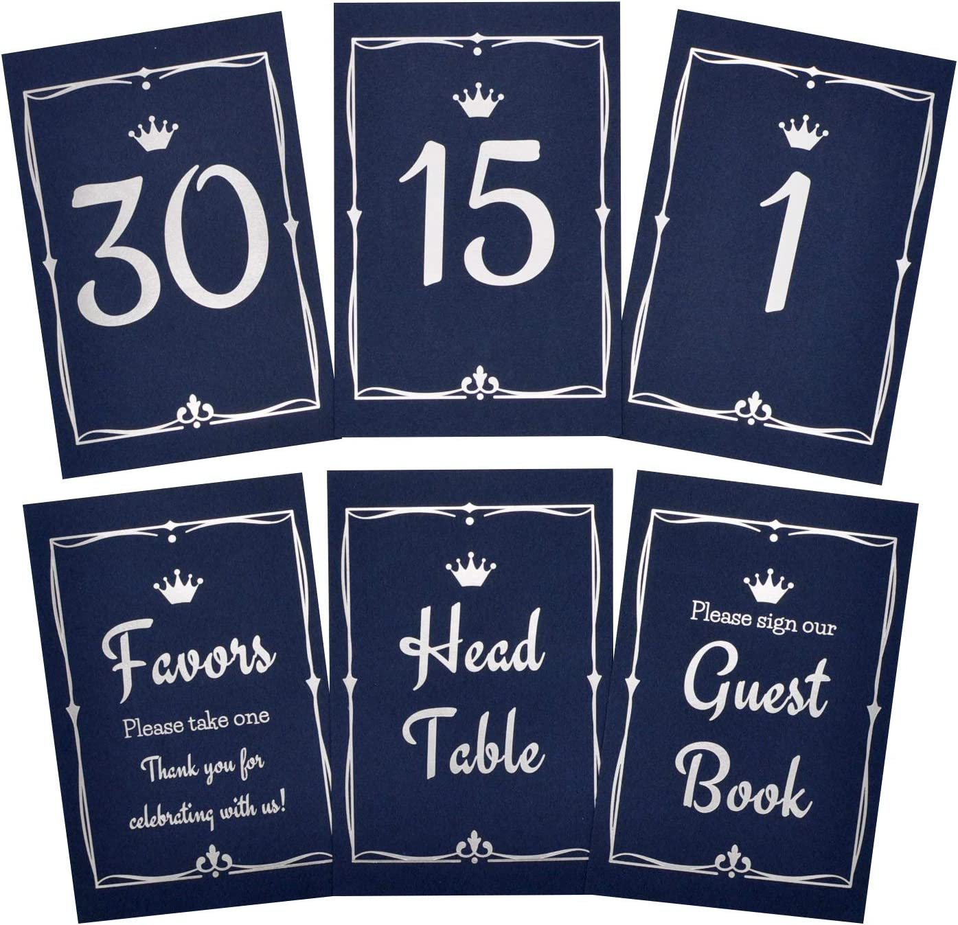 eggblu Wedding Table Numbers Indefinitely 1-30 Plus Useful Excellence Signs for 3 Card H