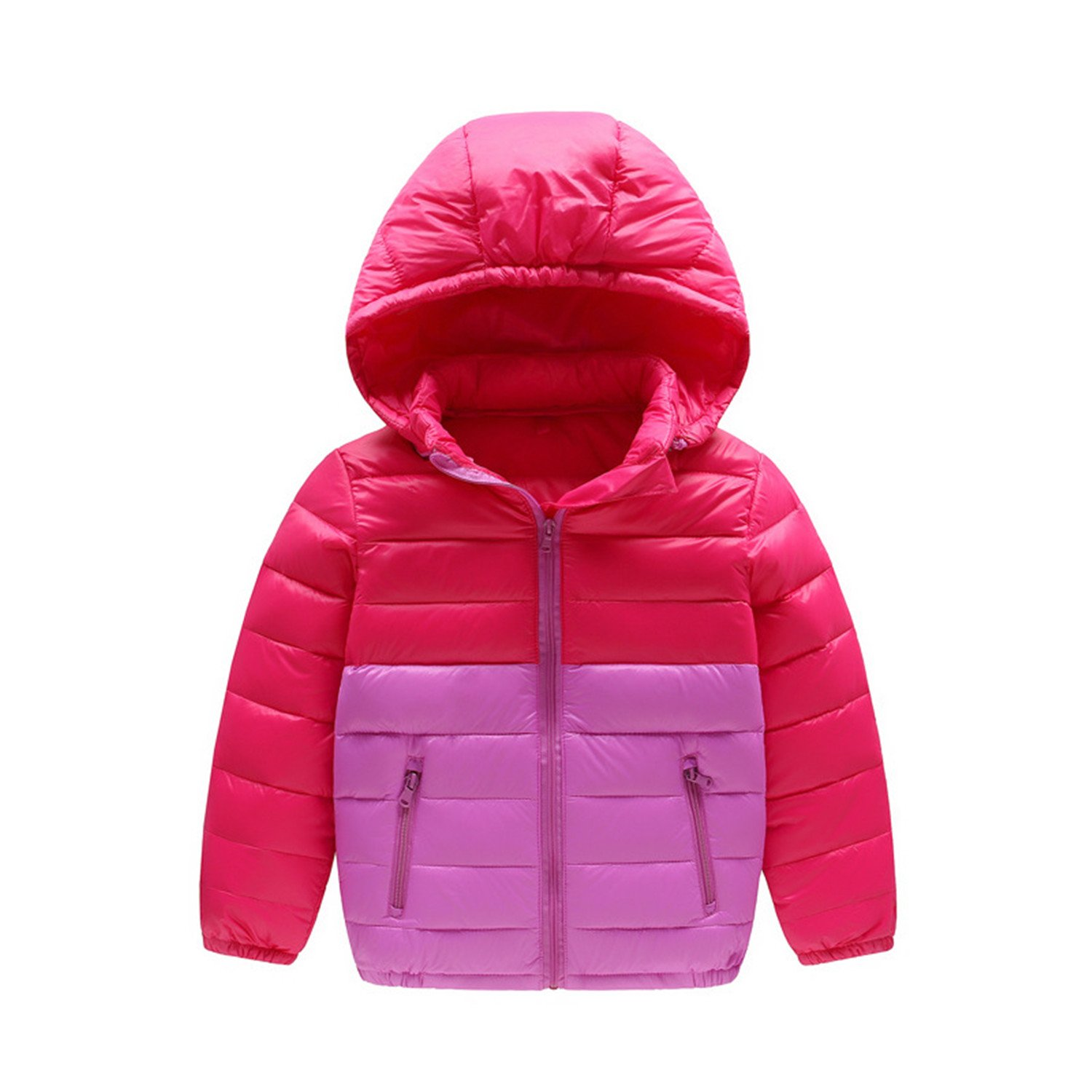 Baqijian Girls Parka Winter Coat Fur Children Down Jacket Lightweight Boy Girl Cap Splicing as picture11 7