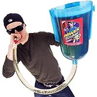 POWER PITCHER Bier-Bong | Premium Party Pitcher | TrinkTrichter | 2 Liter | mit Griff | inkl. Mundstück | beer bong