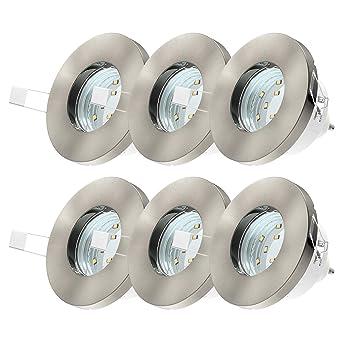 LED Einbaustrahler Badezimmer geeignet 6er Set inkl. 6 x 3W ...