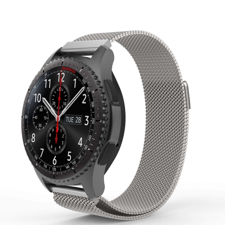 Samsung Gear S3 Frontier / Classic Correa, 22mm Watch Correa, einBand SmartWatch Correa Reemplazo de Acero Inoxidable con Milanese Bucle Malla Magnético ...