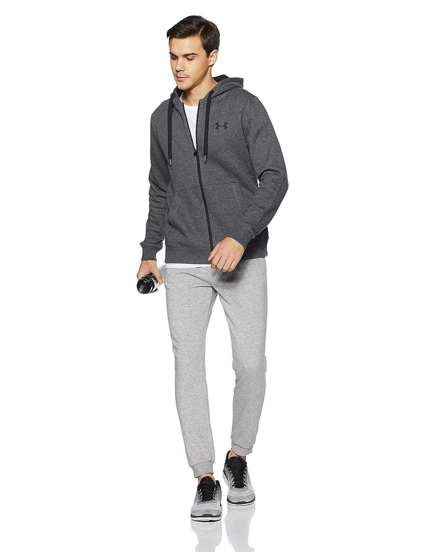 Under Armour Herren Rival Fleecejacke komfortable Strickjacke mit enganliegender Passform atmungsaktive Sweatjacke mit durchgehendem Zip