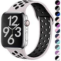 Hamile Correa para Apple Watch 38mm 42mm 40mm 44mm, Doble Color Pulsera de Repuesto de Silicona Suave Transpirable Correa para Apple Watch Series 5/4/3/2/1, 11 Color