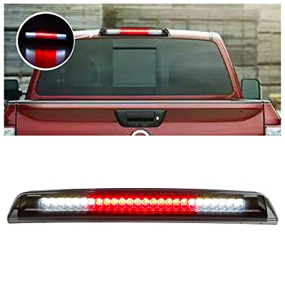 for 2005-2016 Nissan Frontier 2004-2015 Nissan Titan LED 3rd Third Tail Brake Light Rear Cargo Lamp High Mount Stop light (Chrome Housing Smoke Lens): Automotive