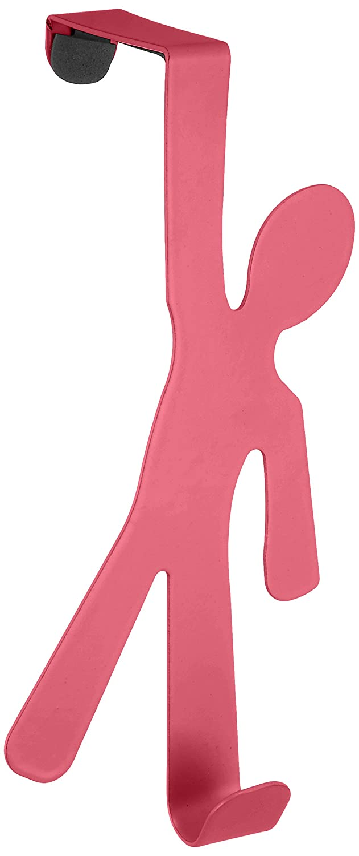 Wenko 4468151100 Tü rhaken Boy, Rosa, 4,5 x 7 x 15 cm