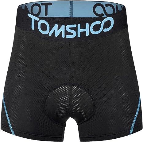 TOMSHOO Pantalones Interiores Ciclismo de Hombres Pantalones ...