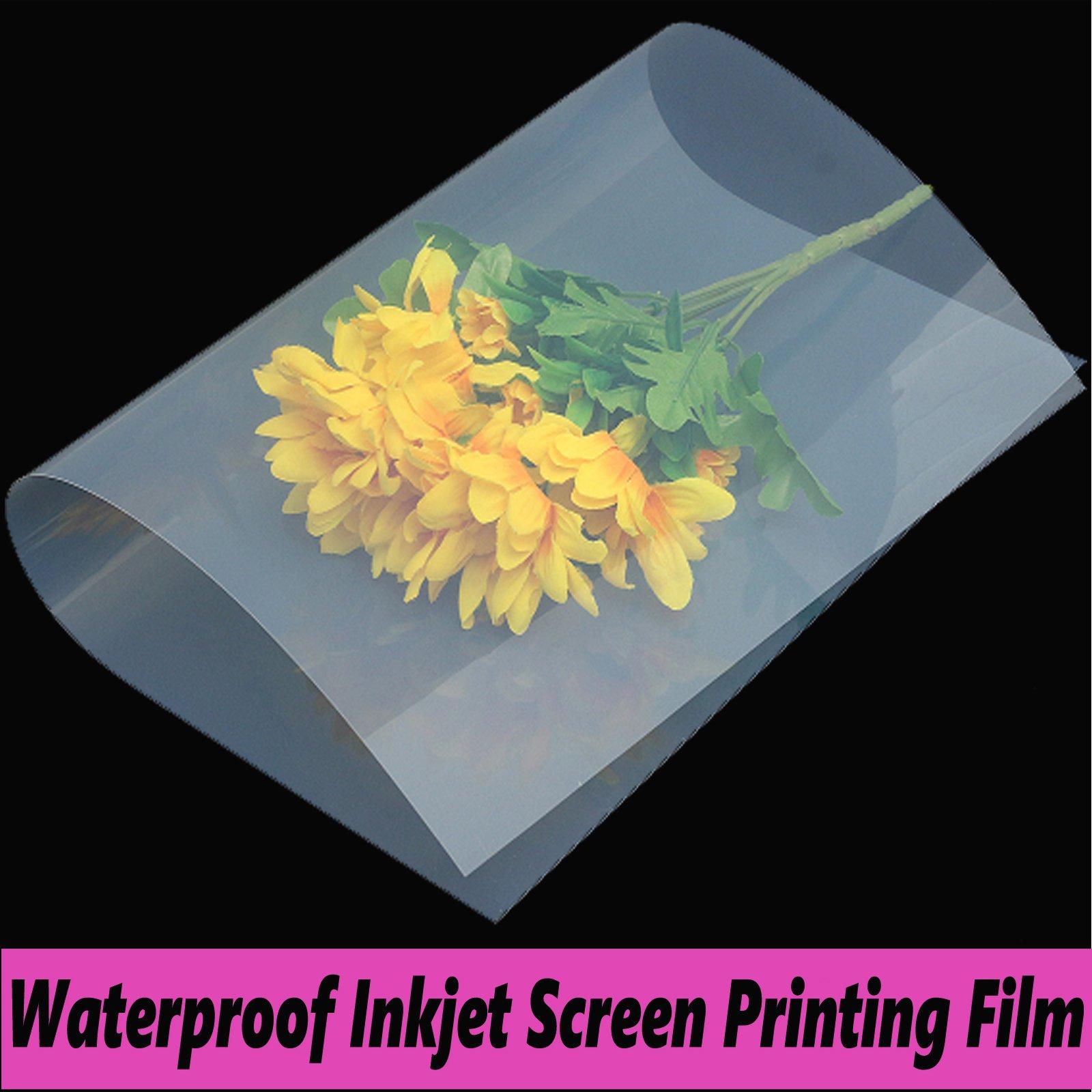 800 Sheets,Waterproof Inkjet Silk Screen Printing Transparency Film (800 sheets 13''x18'')