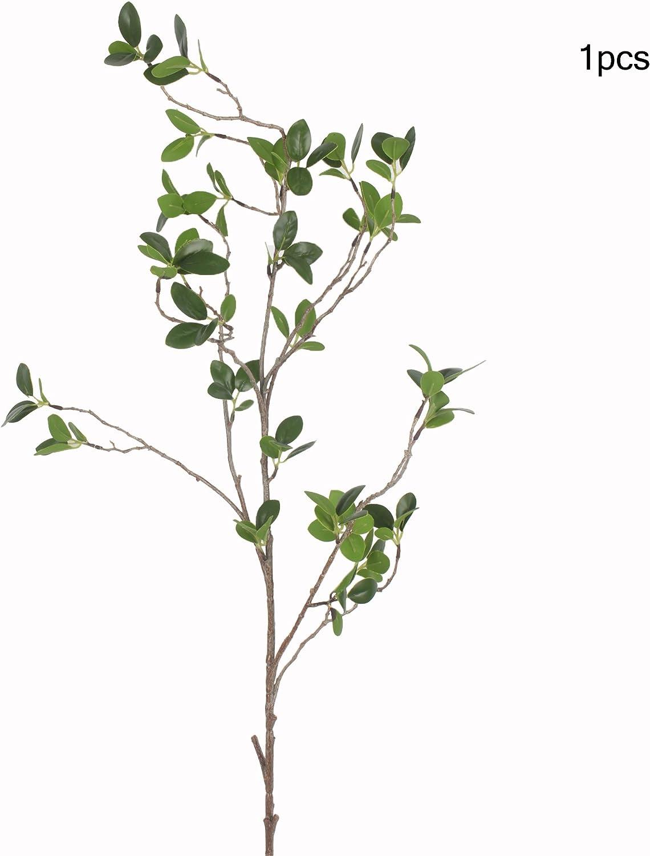JAROWN Plantas de eucalipto artificial de 42 pulgadas con hojas verdes, vapores de árbol para decoración del hogar y el jardín, plástico, Verde, 4 piezas