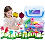BIRANCO. Flower Garden Building Toys - Build a Bouquet Floral Arrangement Playset for Toddlers and Kids Age 3, 4, 5, 6…